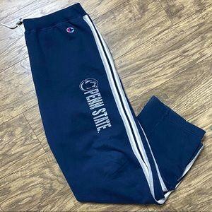 Vintage Champion PSU Jogger Pants Navy Blue Size L